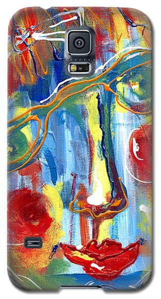 Girl With Two Bows Galaxy S5 Case