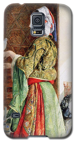 Girl With Two Caged Doves, Cairo, 1864 Galaxy S5 Case by John Frederick Lewis
