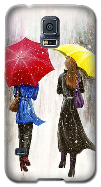 Galaxy S5 Case featuring the painting Girlfriends by Kume Bryant