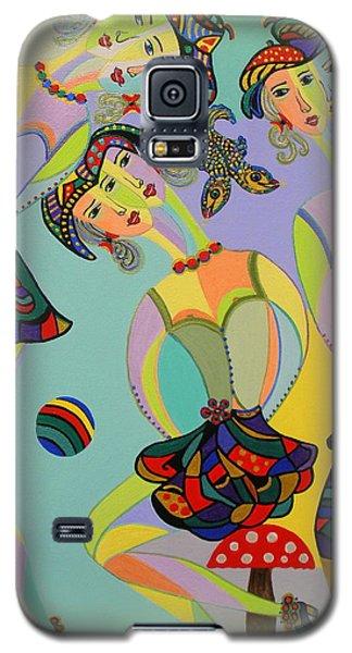 Girls Fantasy Galaxy S5 Case by Marie Schwarzer