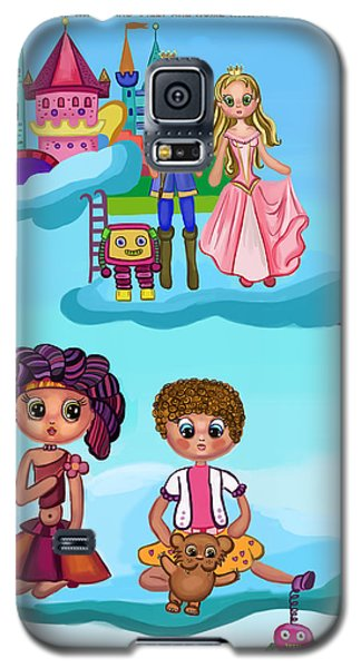 Girls Playing Galaxy S5 Case by Bogdan Floridana Oana