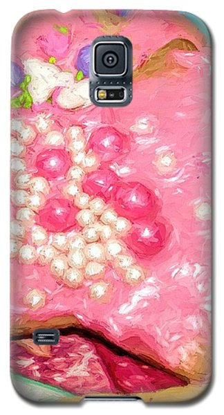 Galaxy S5 Case featuring the painting Girly Pink Frosted Sugar Cookies by Tracie Kaska