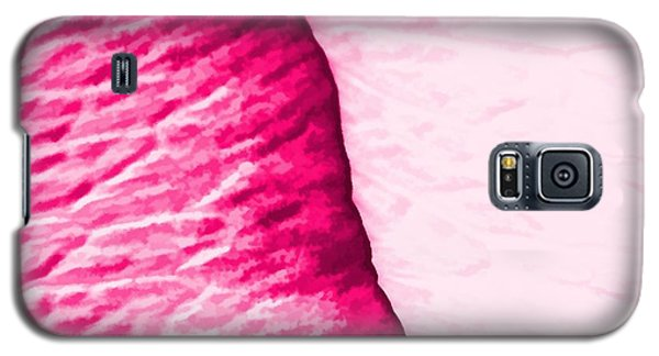 Galaxy S5 Case featuring the painting Girly Pink Rose Abstract by Tracie Kaska
