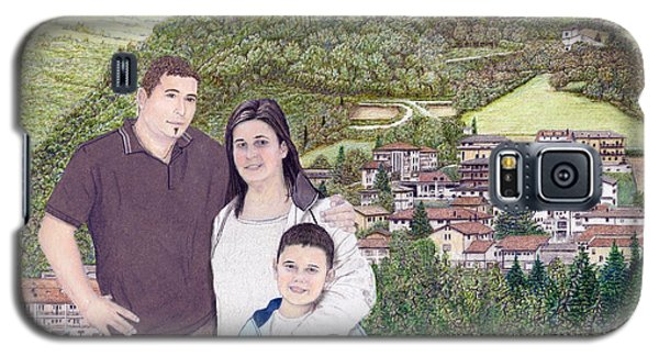 Galaxy S5 Case featuring the painting Giusy Mirko And Simone In Valle Castellana by Albert Puskaric
