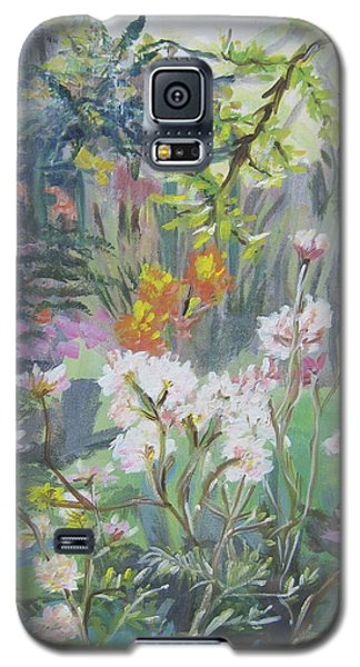 Galaxy S5 Case featuring the painting Giverny In Autumn by Julie Todd-Cundiff
