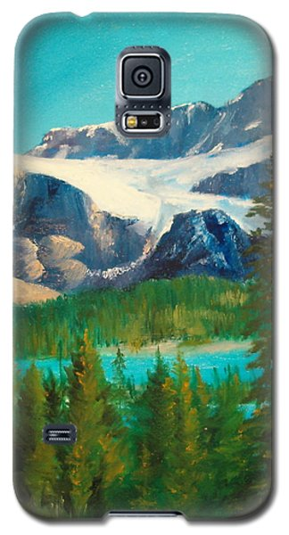 Galaxy S5 Case featuring the painting Glacier by Ellen Canfield