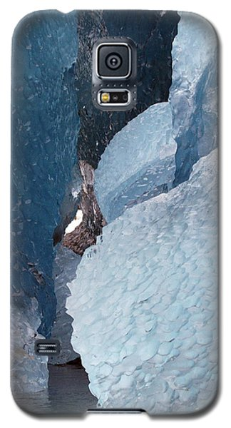 Galaxy S5 Case featuring the photograph Glacier Ice Blues by Myrna Bradshaw
