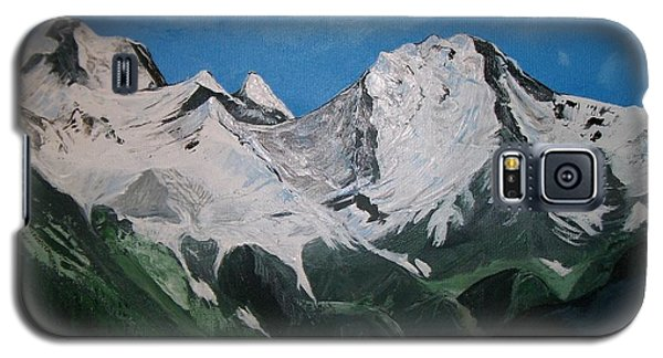 Galaxy S5 Case featuring the painting Glacier Lake by Sharon Duguay