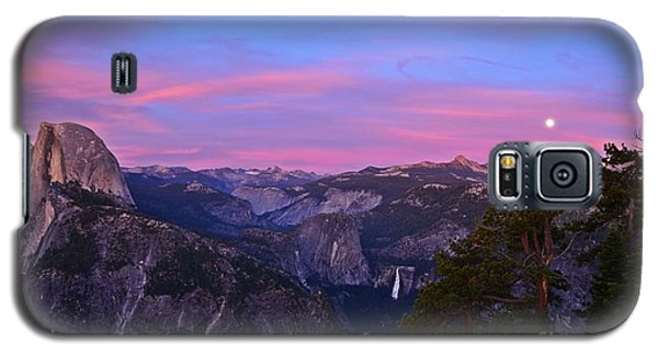 Glacier Point With Sunset And Moonrise Galaxy S5 Case