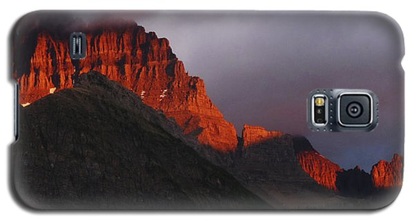 Galaxy S5 Case featuring the photograph Glacier Sunrise by Alan Socolik