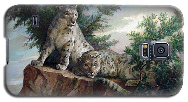 Glamorous Friendship- Snow Leopards Galaxy S5 Case
