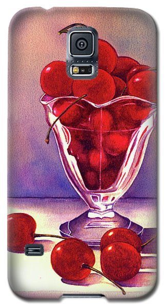 Glass Full Of Cherries Galaxy S5 Case by Nan Wright