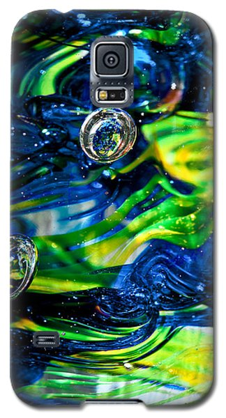 Glass Macro - Seahawks Blue And Green -13e4 Galaxy S5 Case