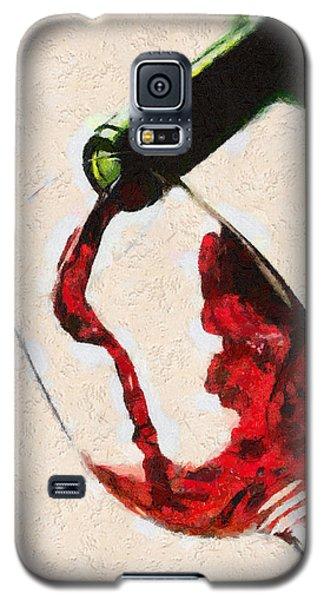 Glass Of Red Wine Galaxy S5 Case by Georgi Dimitrov