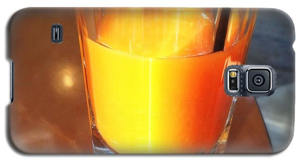 Orange Galaxy S5 Case - Glass With Orange Fruit Juice by Matthias Hauser