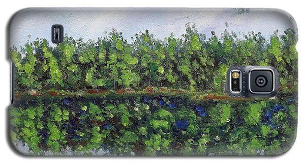 Galaxy S5 Case featuring the painting Glenoak Lake by Jason Williamson