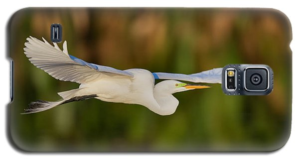 Gliding Great Egret Galaxy S5 Case