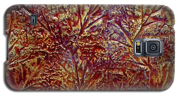 Galaxy S5 Case featuring the painting Gliding Over Fall by D Renee Wilson