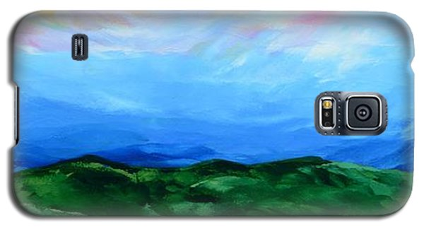 Galaxy S5 Case featuring the painting Glimpse Of The Splendor by Linda Bailey