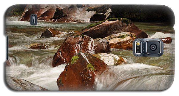 Glistening Boulders In Avalanche Creek Galaxy S5 Case