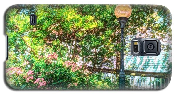 Galaxy S5 Case featuring the photograph Globe Lamp Post by Becky Lupe