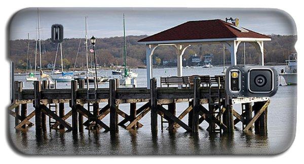 Gloomy Day Northport Dock Long Island New York Galaxy S5 Case