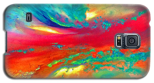Galaxy S5 Case featuring the painting Glorious Day by Karen Kennedy Chatham