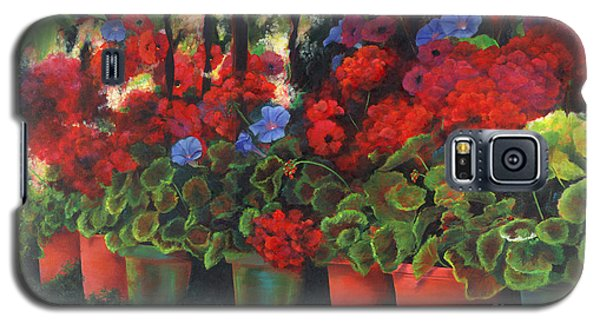 Glorious Geraniums Galaxy S5 Case by Jeanette French