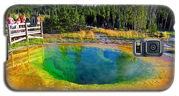 Glory Pool Yellowstone National Park Galaxy S5 Case by Ausra Huntington nee Paulauskaite