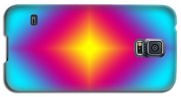 Galaxy S5 Case featuring the digital art Glowing Beauty On Blue by Karen Nicholson