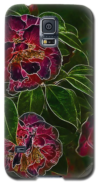 Glowing Camellia Galaxy S5 Case