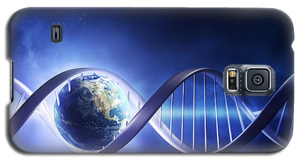 Glowing Earth Dna Strand Galaxy S5 Case