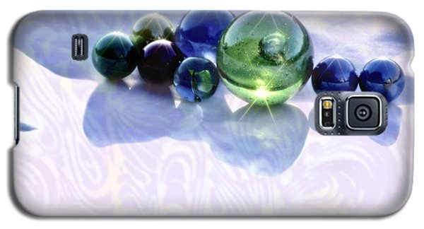 Galaxy S5 Case featuring the photograph Glowing Marbles by Cynthia Lagoudakis