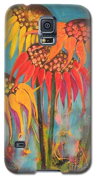 Glowing Sunflowers Galaxy S5 Case by Lyn Olsen