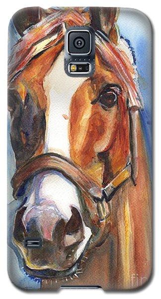 White Horse Galaxy S5 Case - Horse Painting Of California Chrome Go Chrome by Maria Reichert