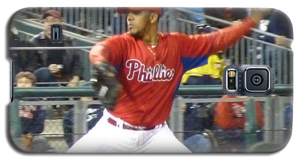 Galaxy S5 Case featuring the photograph Go Phillies by Jeanette Oberholtzer