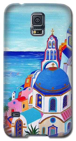 go to Santorini now Galaxy S5 Case by Roberto Gagliardi