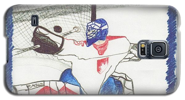 Galaxy S5 Case featuring the drawing Goalie By Jrr by First Star Art