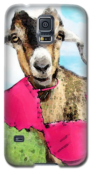 Goat Art - Oh You're Home Galaxy S5 Case by Sharon Cummings