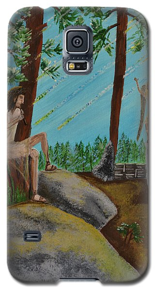 Galaxy S5 Case featuring the painting God Calls His Angels by Cassie Sears