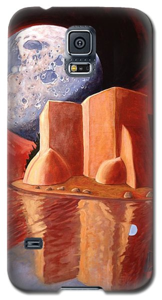 Galaxy S5 Case featuring the painting God Is In The Moon by Art James West