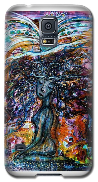 Goddess And Peacock Galaxy S5 Case
