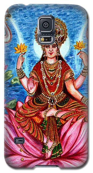 Galaxy S5 Case featuring the painting Goddess Lakshmi by Harsh Malik