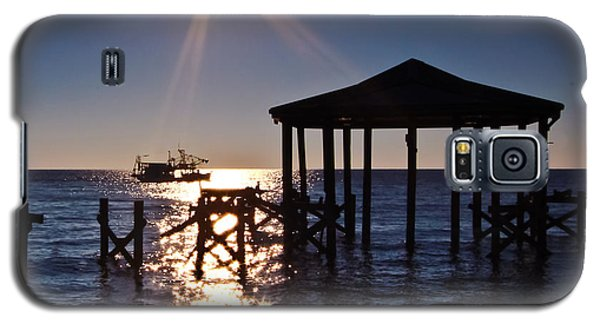 God's Sun Flower At Sea Galaxy S5 Case by Brian Wright