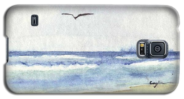 Galaxy S5 Case featuring the painting Goelan Atlantique by Marc Philippe Joly