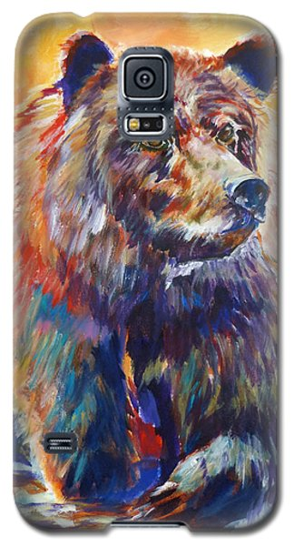 Galaxy S5 Case featuring the painting Going Fishing by P Maure Bausch