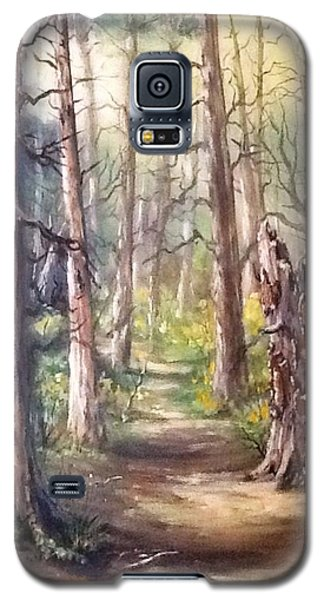 Galaxy S5 Case featuring the painting Going For A Walk by Megan Walsh