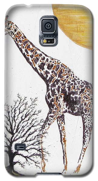 Galaxy S5 Case featuring the painting Going Solo by Stephanie Grant