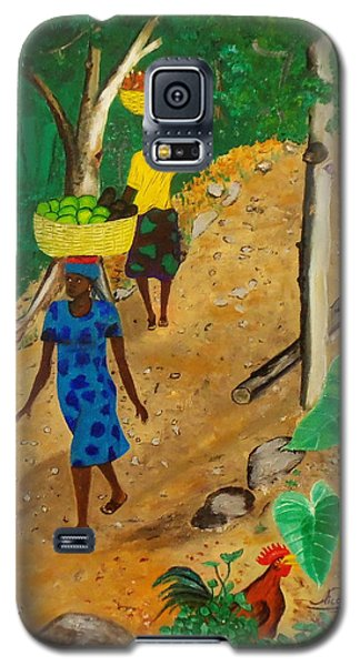 Galaxy S5 Case featuring the painting Going To The Marketplace 3 by Nicole Jean-Louis