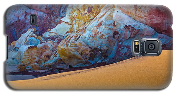 Galaxy S5 Case featuring the photograph Gold And Blue by Edgar Laureano